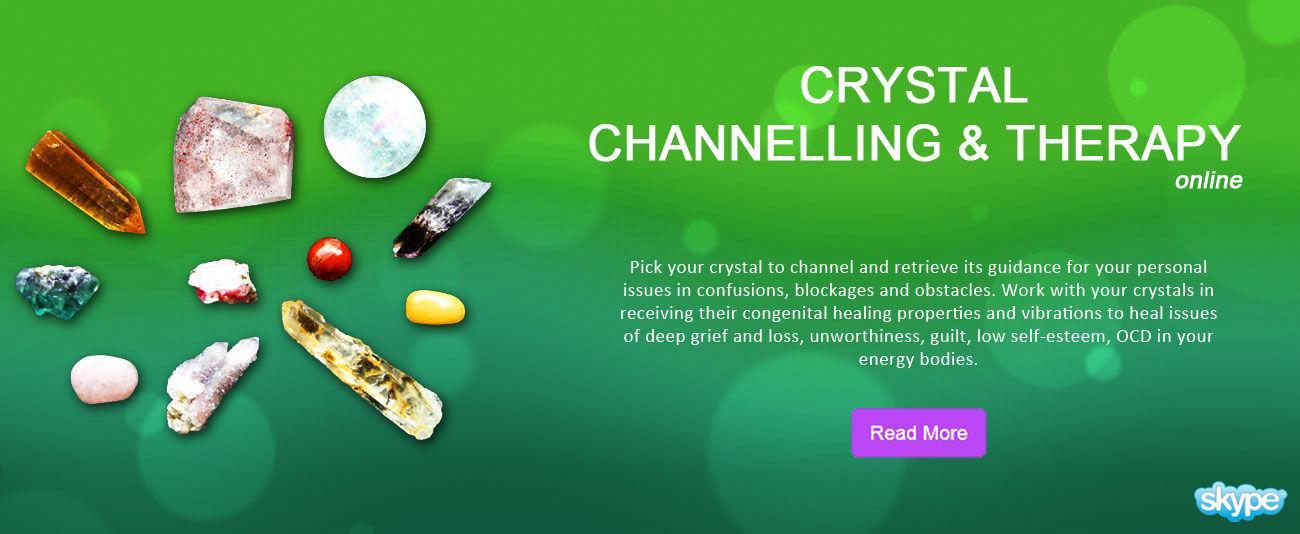 Crystal Channelling Therapy